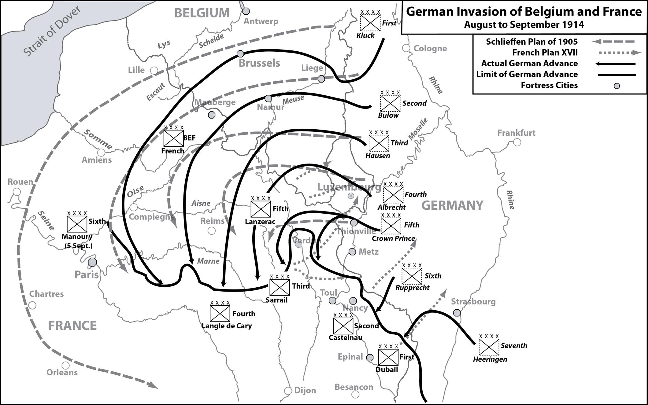 an analysis of general alfred von schlieffens plan for war in europe Schlieffen plan german war strategy devised by alfred von schlieffen, chief of   by the german general alfred, graf von schlieffen (1833–1913) before 1905.