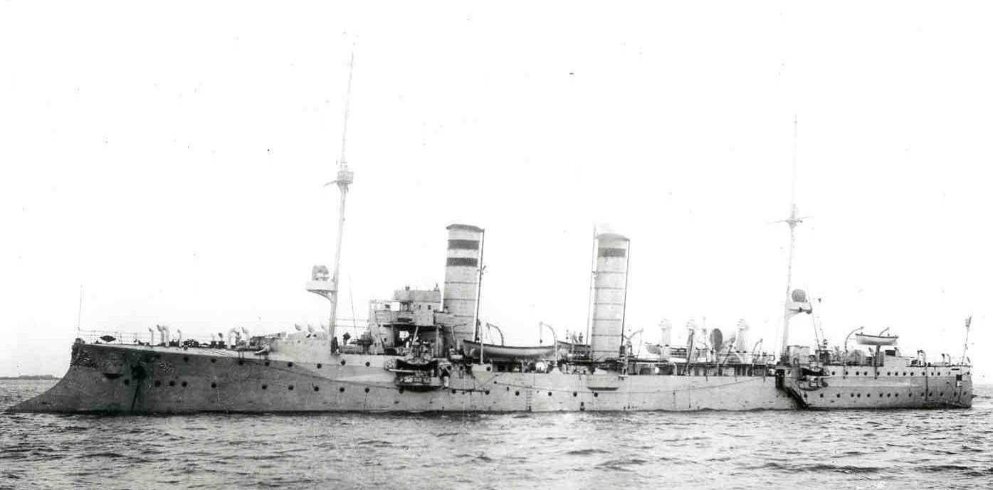 The Frauenlob, a German light cruiser sunk during the battle