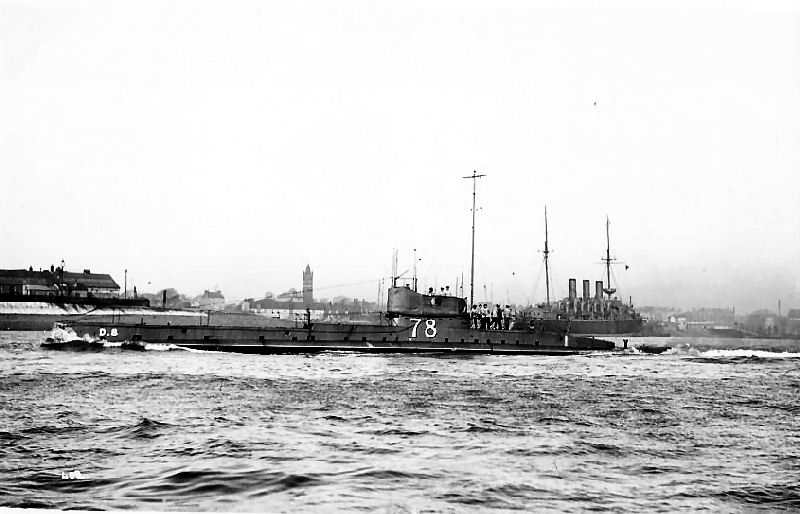 Though not a factor, both sides used submarines in the battle. This one was British
