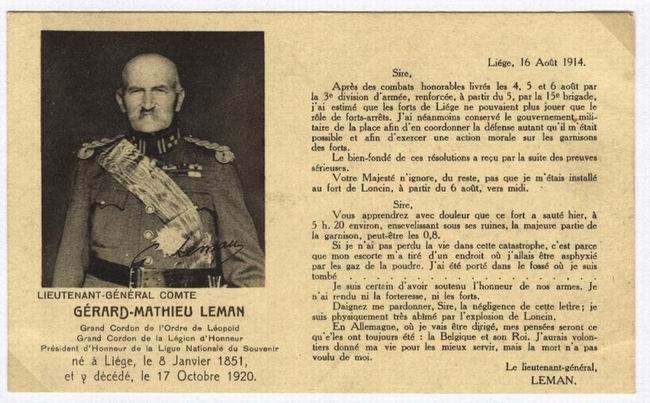 General Leman's telegram