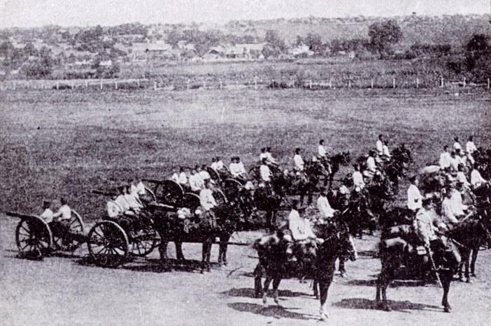 Serbian field artillery