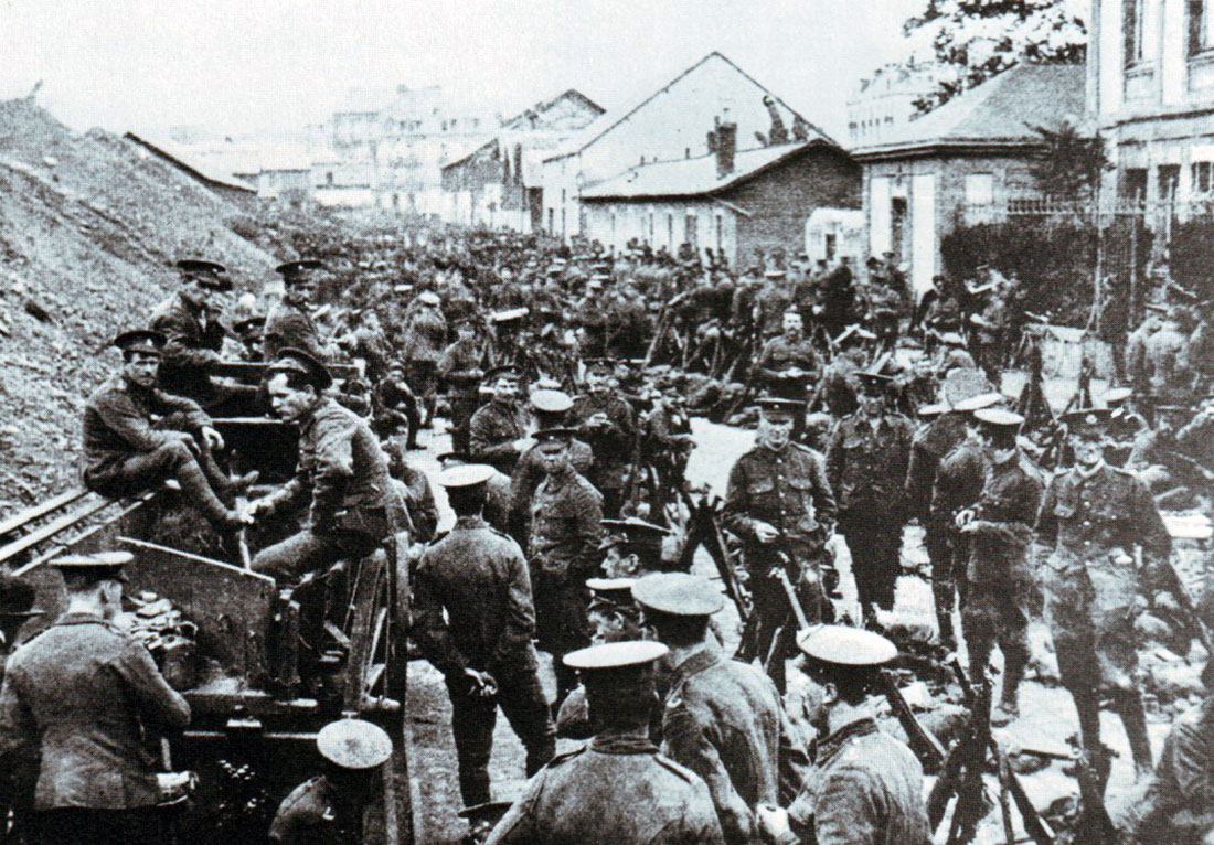 British troops awaited the Imperial German Army at Mons