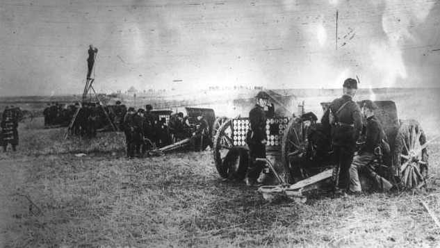 French 75 millimeter gun crews