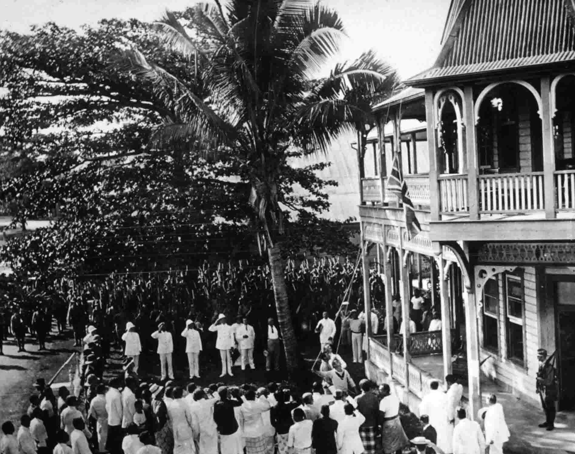 The Australian Naval and Military Expeditionary Force (AN&MEF) taking formal possession of Samoa