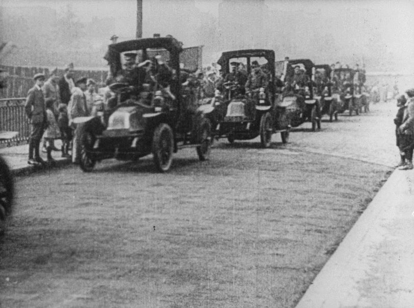 The famous Parisian taxicab convoy that brought 3,000 troops to the front lines
