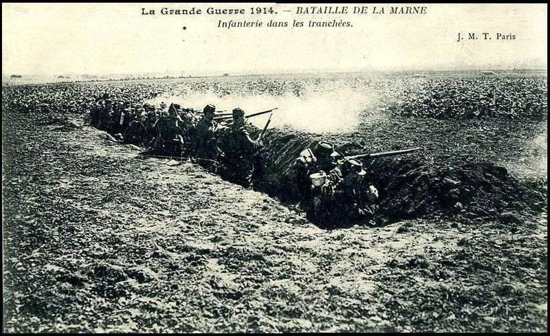 French troops learned the value of entrenchment at the Battle of the Marne