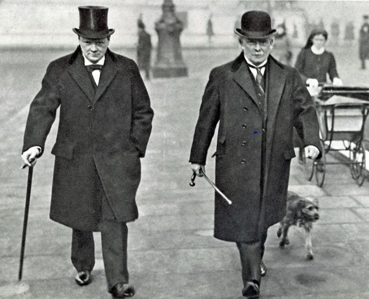 Lloyd George with Winston Churchill
