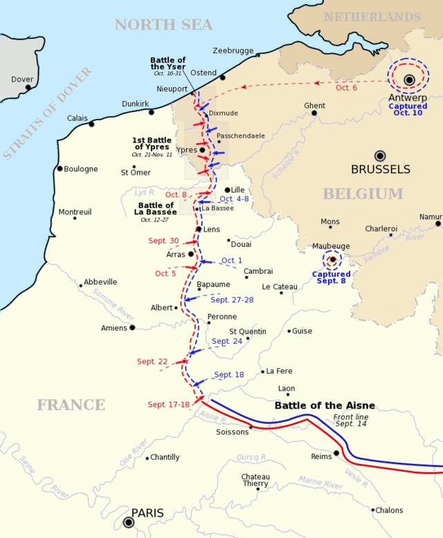 A political perspective of the Western Front's shape at this time