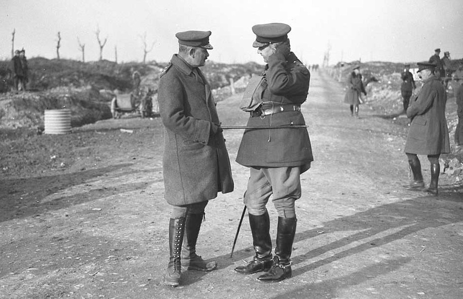 General Sir Julian Byng and General Sir Arthur Currie, who developed the small-unit tactics that made his men an elite team