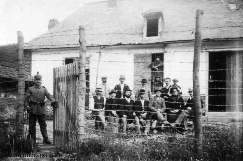 Civilian prisoners near Ypres