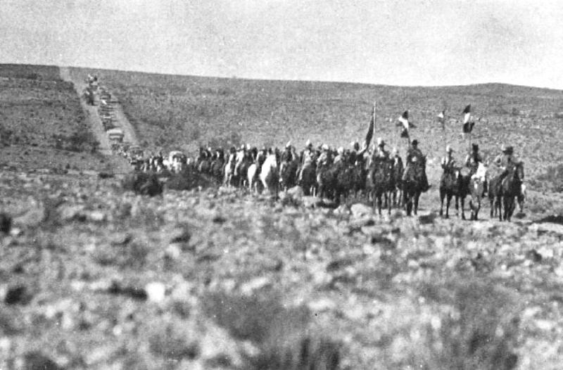 Manie Maritz's column on the march near Upington