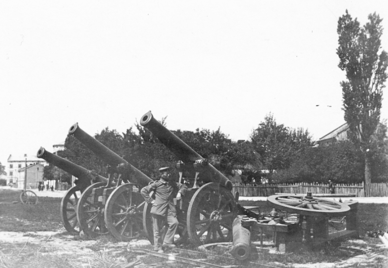 Some of the obsolete guns at Przemysl