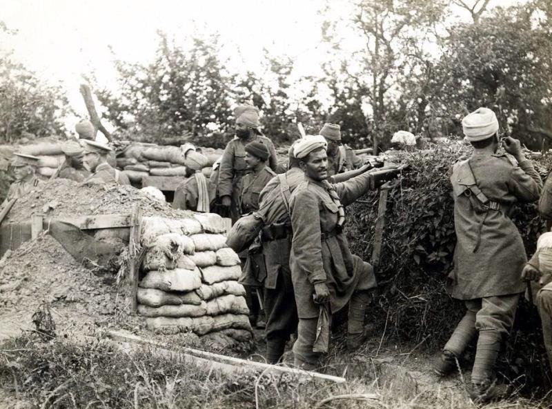 Sikh troops in an undated photograph of the Western Front