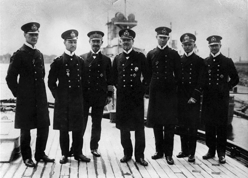 Vice Admiral Hipper and his staff in 1916