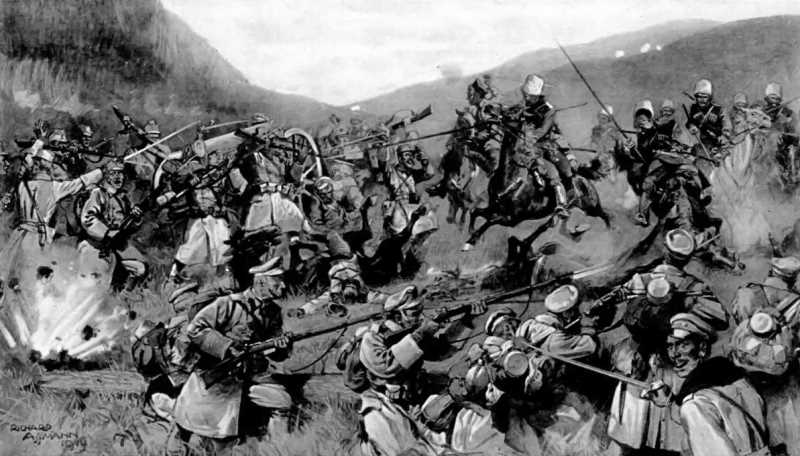 Fighting in a Hungarian mountain pass