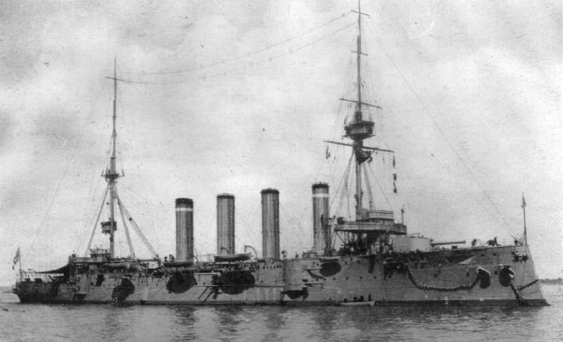HMS Good Hope, Cradock's flagship, was one of two British cruisers lost with all hands at the Battle of Coronel