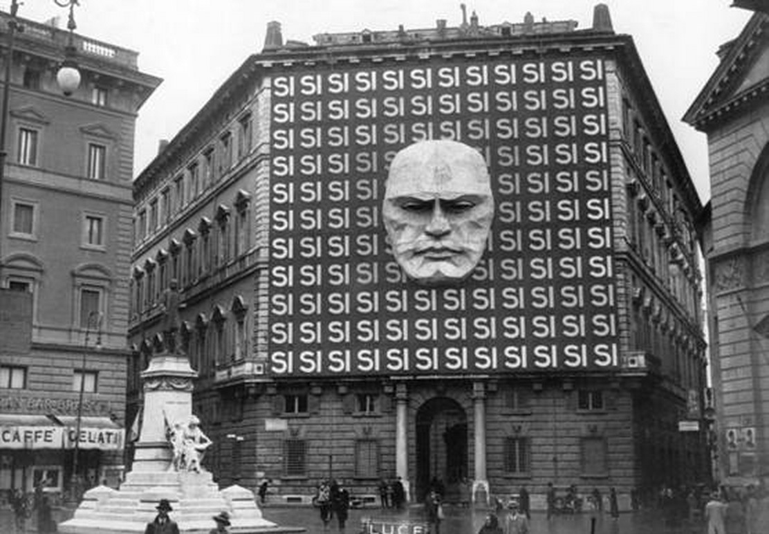 The headquarters of Mussolini's Fascist Party, which helped inspire the INGSOC of George Orwell's 19184