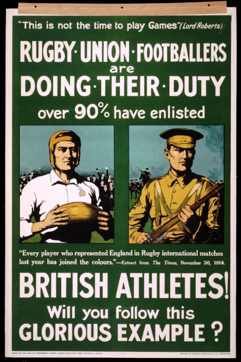 A recruiting poster with a clear sports theme