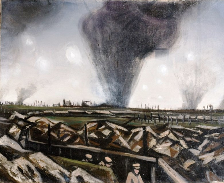 The Strafing, a Nevinson painting t