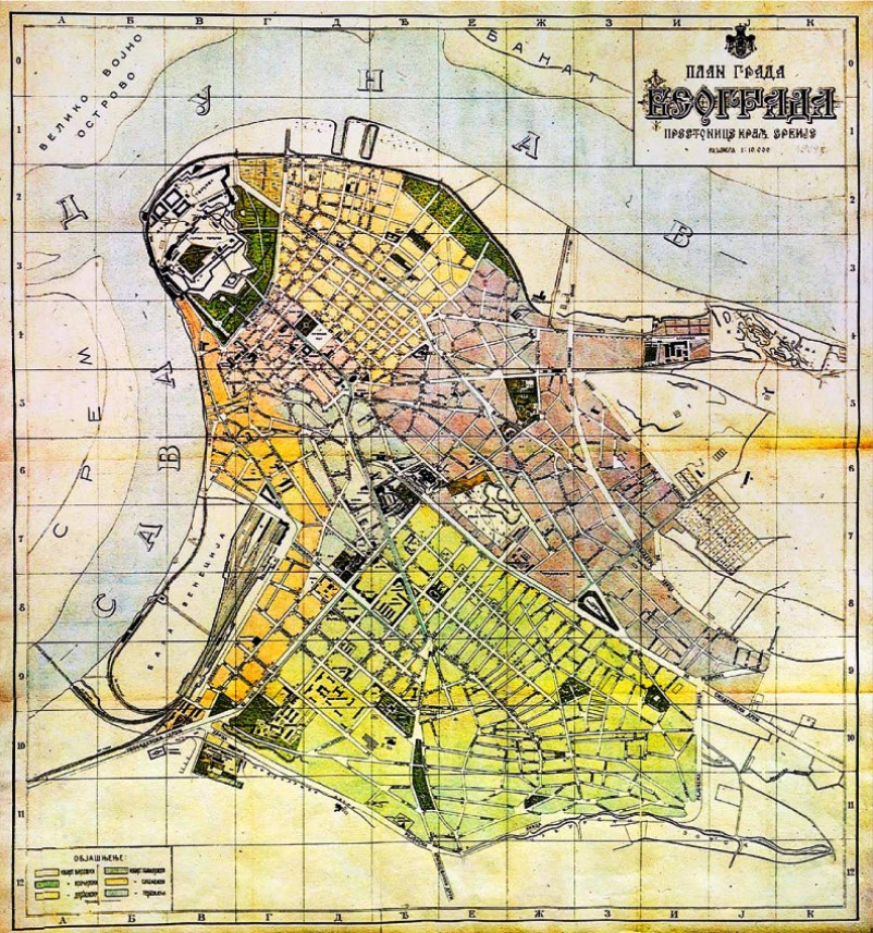 A 1910 map of Belgrade shows how indefensible the capital of Serbia was
