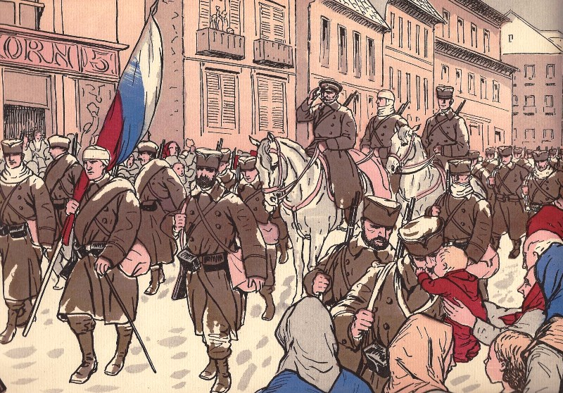 King Peter I triumphantly reenters Belgrade