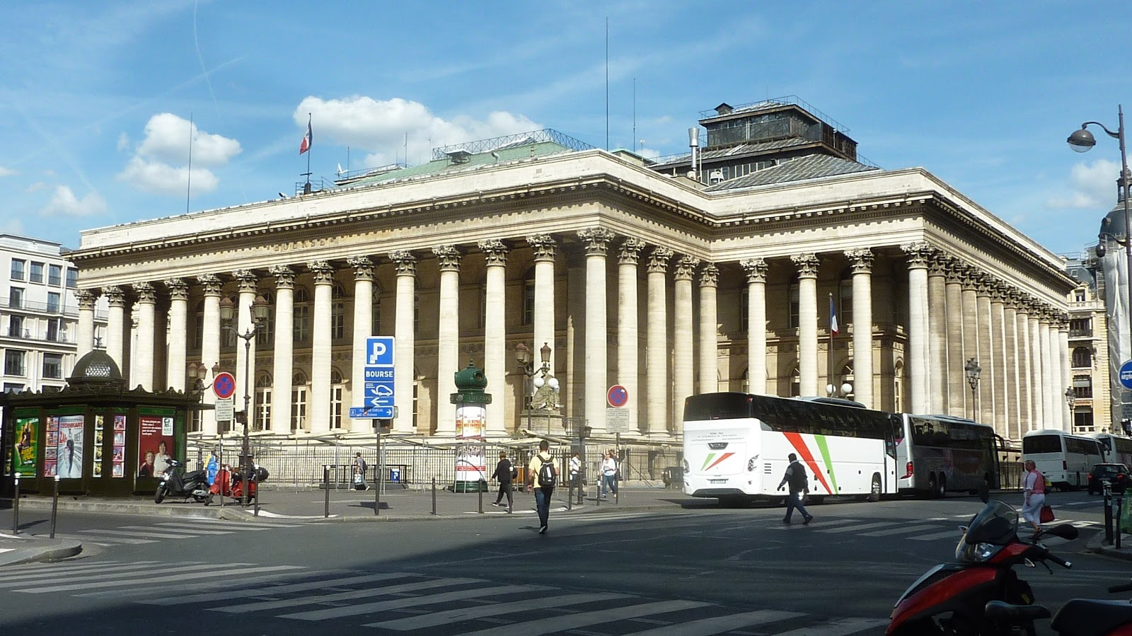 The exterior of the Paris Bourse has hardly changed since 1905