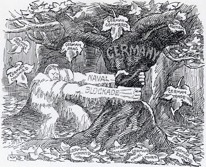In the Grip of Jack Frost, a November 11 political cartoon referring to Churchill's public statements about the blockade