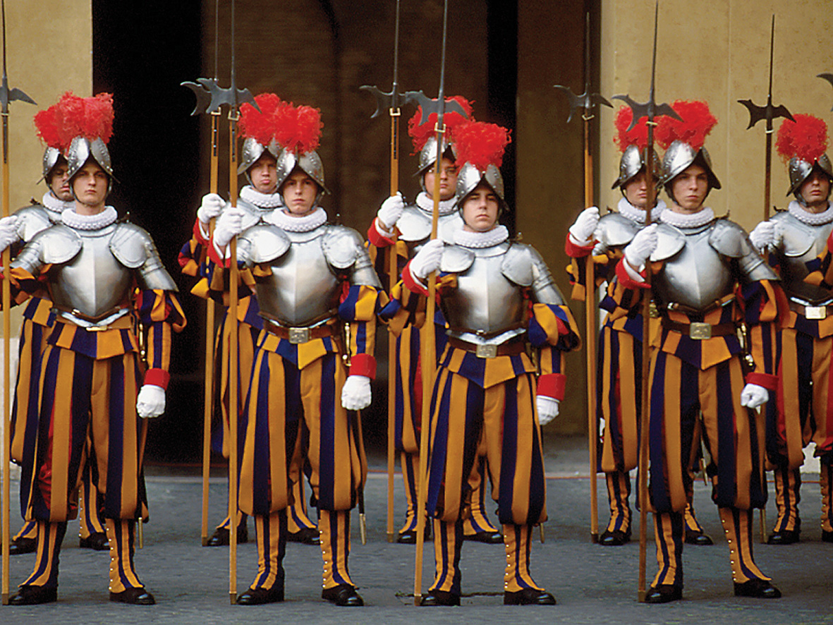Commandant Jules Repond designed the famous uniforms of the Pope's Swiss Guard in 1914