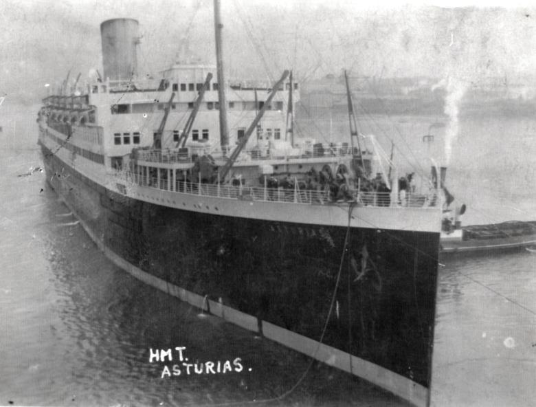 His Majesty's Troopship Asturias before conversion to a hospital ship