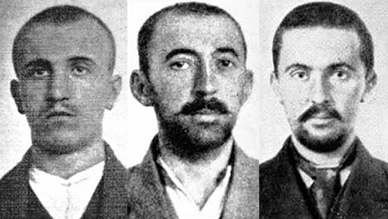 Left to Right: Danilo Ilic, Veljko Cubrilovic, Misko Jovanovich