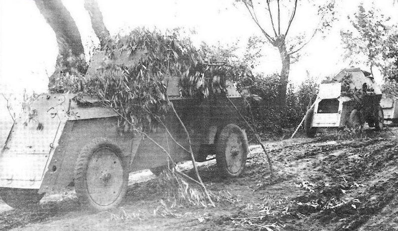 Russo-Balt armored cars fighting at Przasnysz