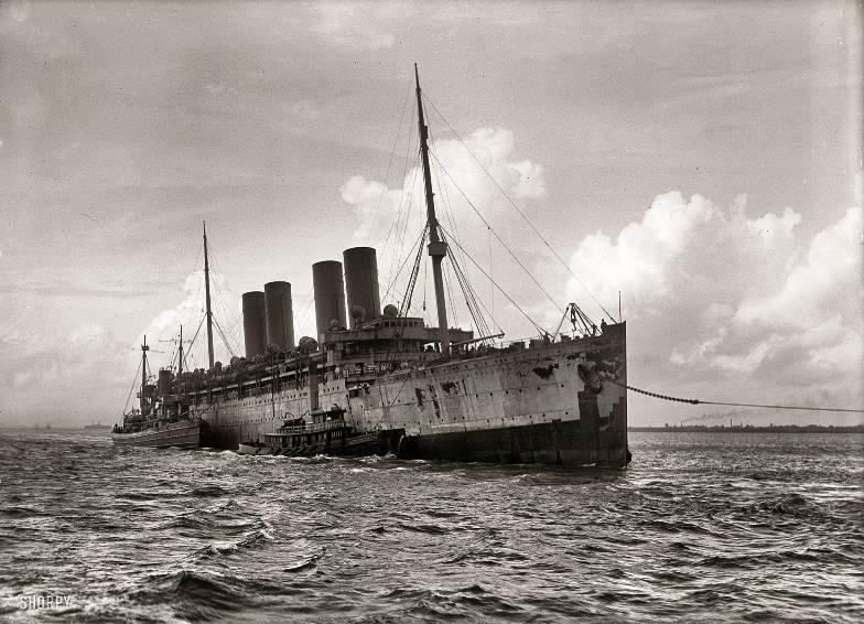 The Kronprinz Wilhelm interned in Newport News ca. 1916