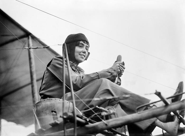 French aviatrix Marie Marvingt