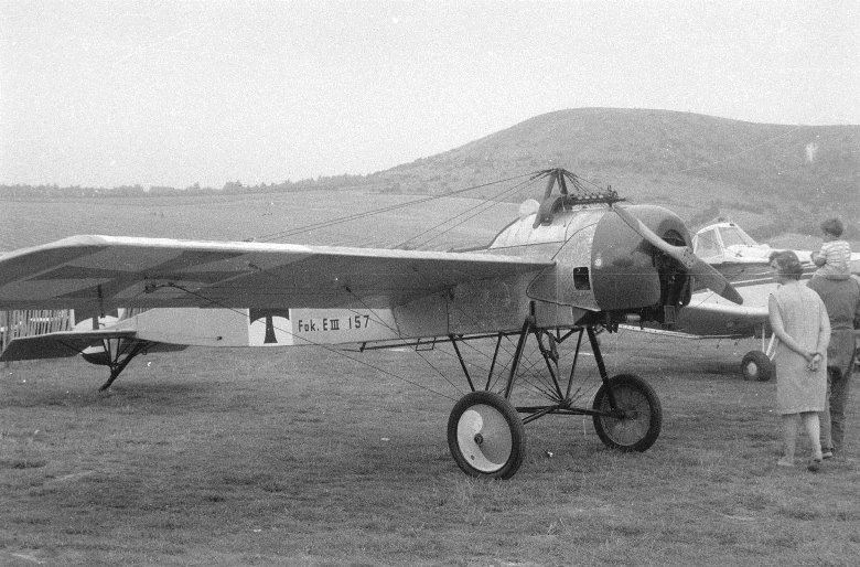 A Fokker Eindecker.