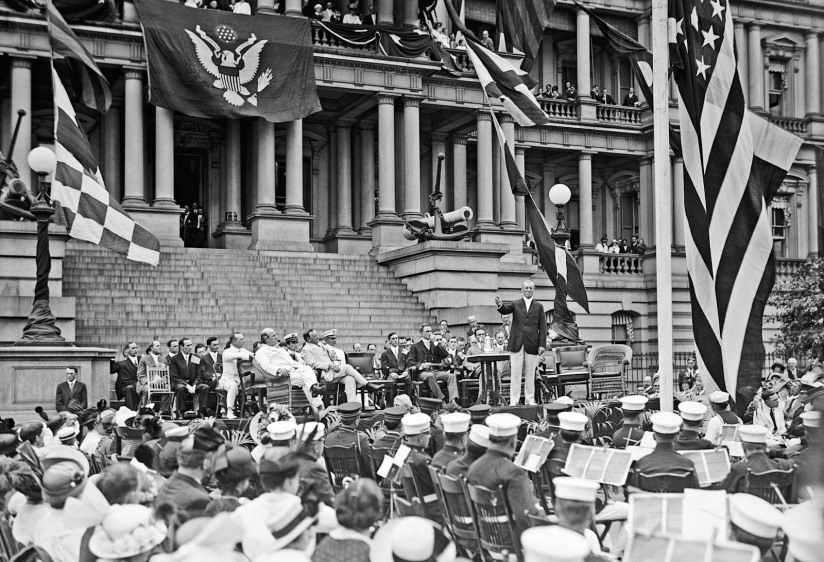 Flag Day. Wilson speaking, 1914
