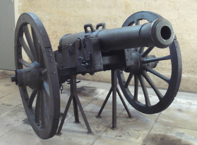 Napoleonic-era cannons had low rates of fire and their ammunition was neither explosive nor shrapnel