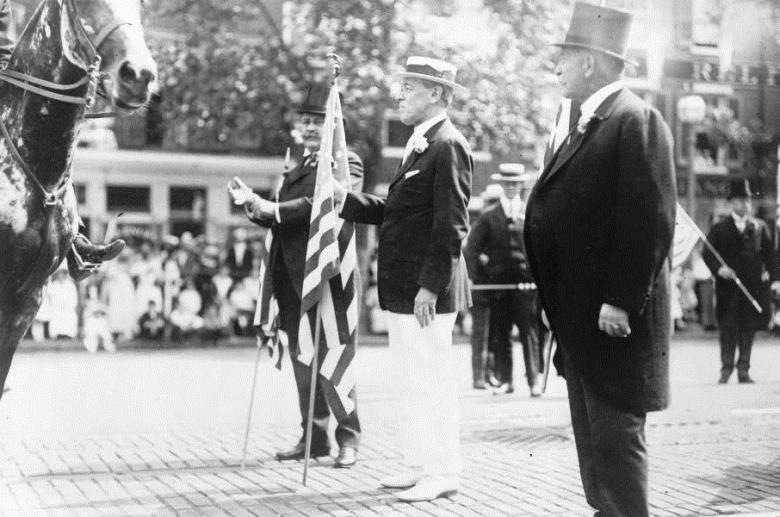 Wilson during Preparedness Day in 1916. Military reforms were essential to