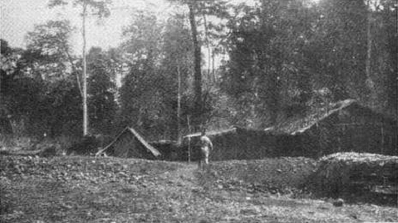 A bivouac in a forest clearing. Via The Great War in Africa by Brigadier General E. Howard Gorges