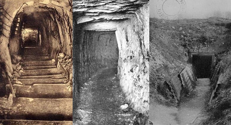 Three views of the Labyrinth's entrance passages