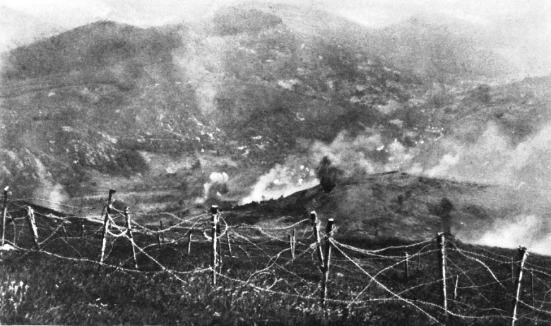 7. 5 P. M.: The Braunkoff Stormed and Taken; the Germans, Having Fired Metzeral, Channonading Their Former Position