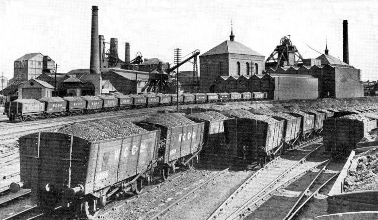 Colliery on Wearside showing trucks full of coal