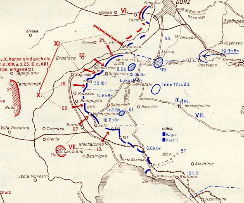 03 august 1915 river of souls the great war blog a map of the second battle of the isonzo sciox Gallery