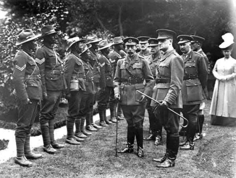 1st Battalion of the Nigerian Regiment in review some time before departing for Kaduna in 1914