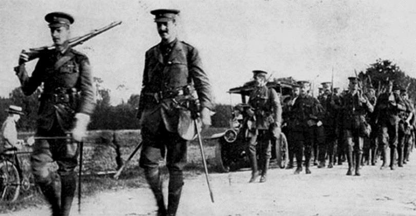 2nd Grenadier Guards at LeHavre, 15 August 1914