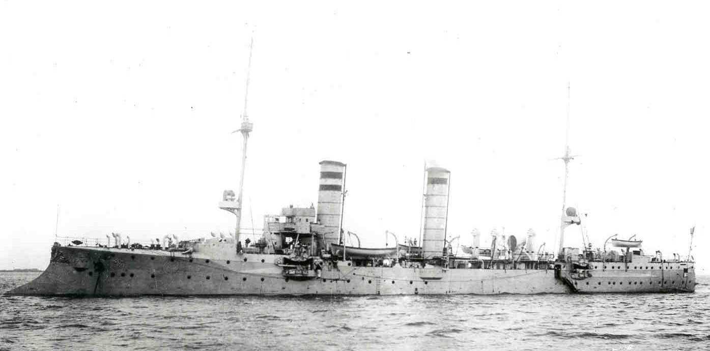 The Frauenlob, a German light cruiser sunk during the battle