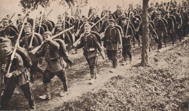 German troops marching through Belgium