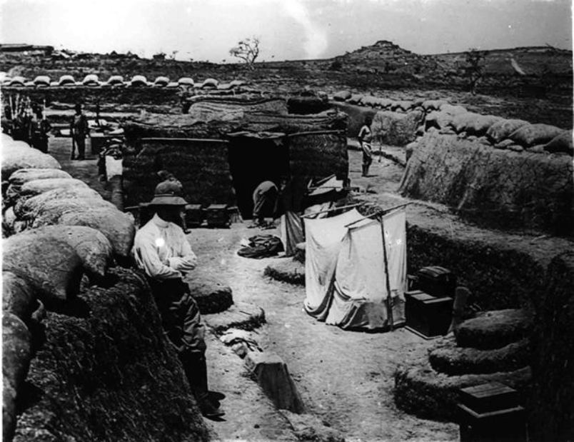 A trench fortress in Garua. German field fortifications were meticulous no matter where they found themselves on the defensive