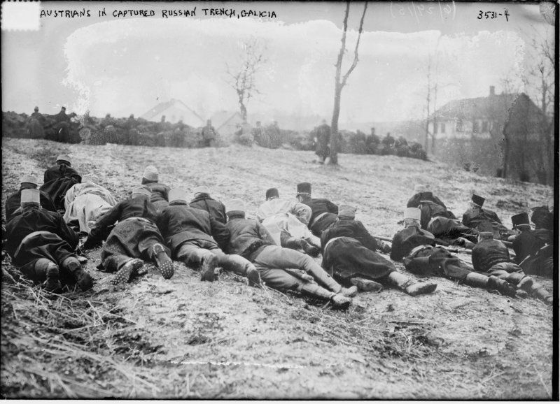 Austrian troops fighting in Galicia