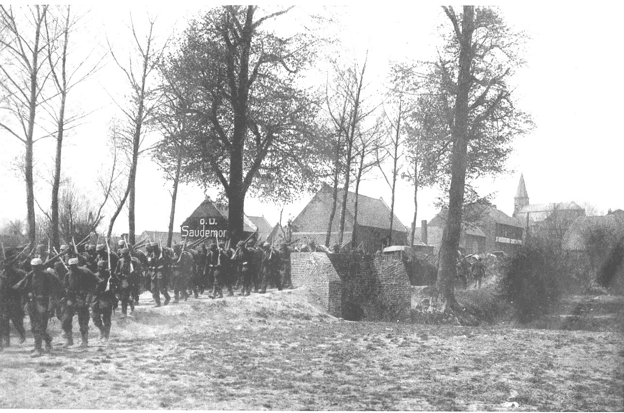 As German troops marched through Belgium, their lines of supply grew longer -- and so did their marching pace