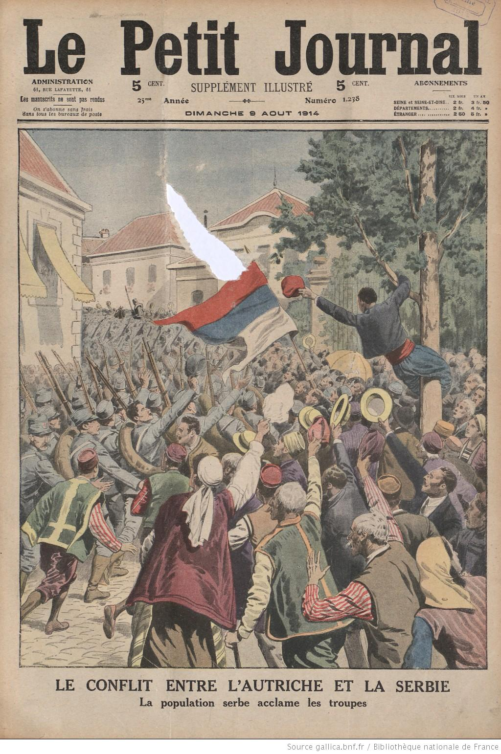 A French magazine cover extols the courage of the Serbian people